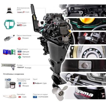 Лодочный мотор Toyama TM6AFS-9 (F6ABMS)